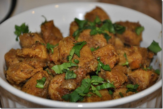 Soya Chunks Dry Curry